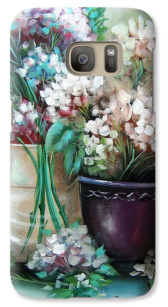 Galaxy Case featuring the painting Hydrangea Melody by Patrice Torrillo