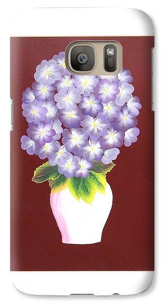 Galaxy Case featuring the painting Hydrangea by Ron Davidson