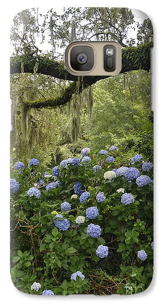 Galaxy Case featuring the photograph Hydrangeas In The Village  by Cheryl McClure