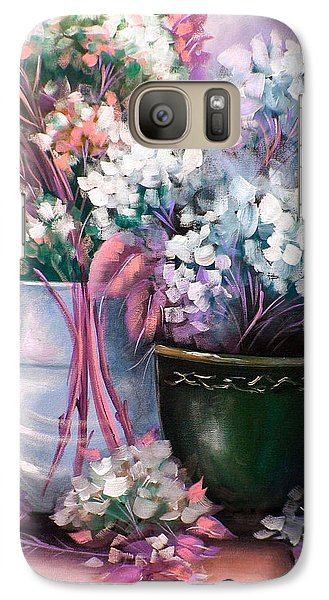 Galaxy Case featuring the painting Hydrangeas Still Life Pink by Patrice Torrillo