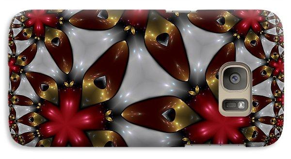 Galaxy Case featuring the digital art Hyper Jewel I - Hyperbolic Disk by Manny Lorenzo