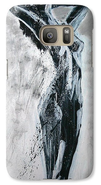 Galaxy Case featuring the painting I Am Alive by Jarmo Korhonen aka Jarko