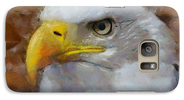 Galaxy Case featuring the painting I Am An Eagle by Wayne Pascall
