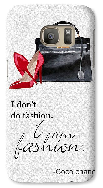 I Am Fashion Galaxy S7 Case by Rebecca Jenkins