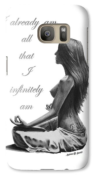 Galaxy Case featuring the drawing I Am by Marianne NANA Betts