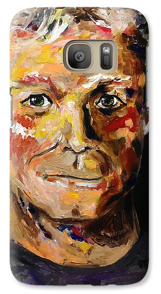 Galaxy Case featuring the painting I Am Me Am I  by Alan Lakin