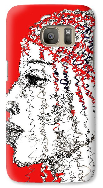 Galaxy Case featuring the drawing I Am Not Afraid by Sladjana Lazarevic
