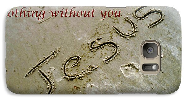 Galaxy Case featuring the photograph I Am Nothing Without You by Robin Coaker