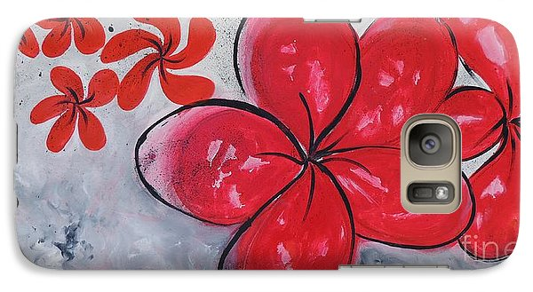 Galaxy Case featuring the painting I Am Red by Lyn Olsen