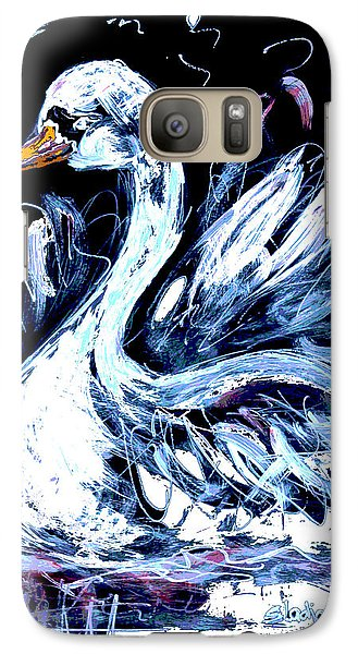 Galaxy Case featuring the painting I Am Swan by Sladjana Lazarevic