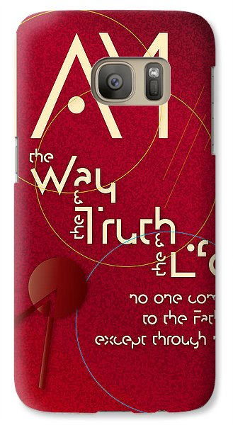 Galaxy Case featuring the digital art I Am The Way by Chuck Mountain