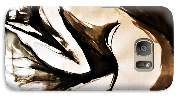 Galaxy Case featuring the drawing I Can't Do Today by Helen Syron