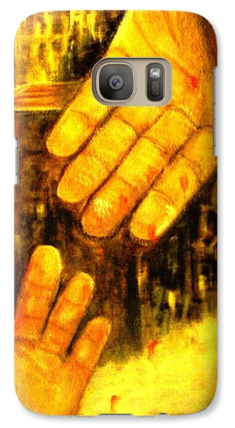 Galaxy Case featuring the painting I Chose You by Hazel Holland
