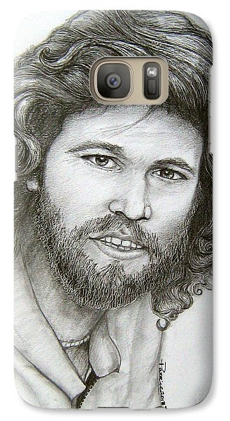 Galaxy Case featuring the drawing Barry Gibb by Patrice Torrillo
