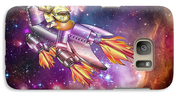Galaxy Case featuring the digital art I Dream Of Rockethorse by Laura Brightwood