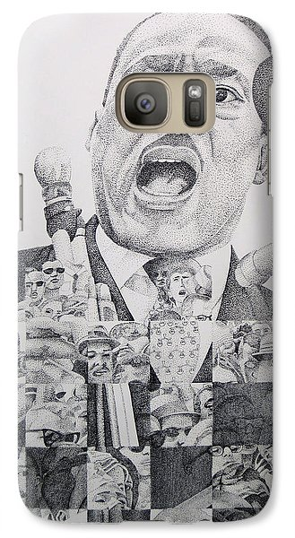 Galaxy Case featuring the drawing I Have A Dream Martin Luther King by Joshua Morton