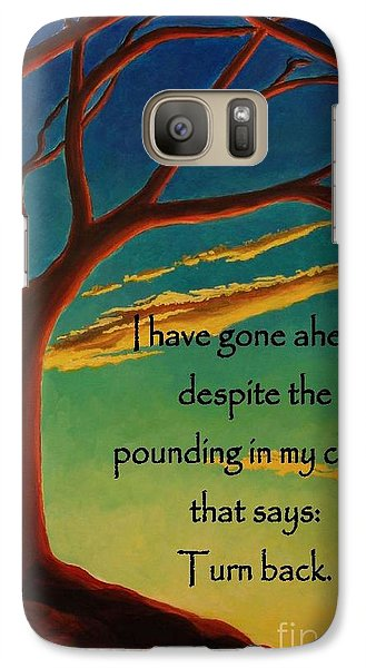 Galaxy Case featuring the digital art I Have Gone Ahead by Janet McDonald