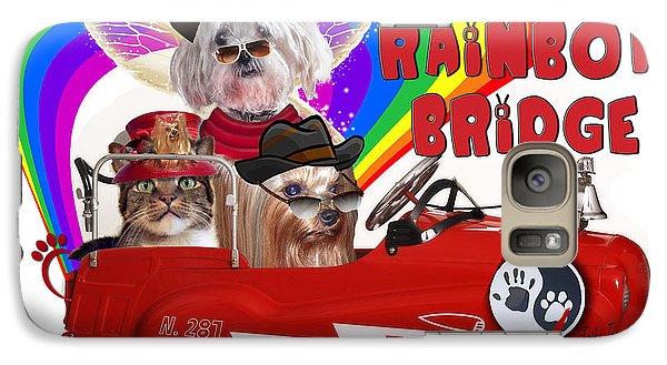 Galaxy Case featuring the digital art I Helped My Pet Cross Rainbow Bridge by Kathy Tarochione