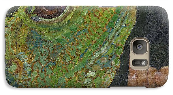 Galaxy Case featuring the painting I Is For Iguana by Jessmyne Stephenson