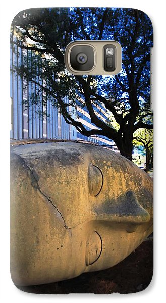 Galaxy Case featuring the photograph I Just Lost Ma Head by Robert McCubbin