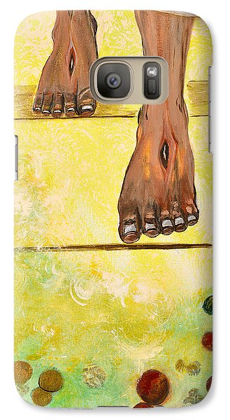Galaxy Case featuring the painting I Knock by Cassie Sears
