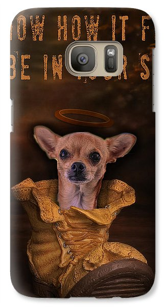Galaxy Case featuring the digital art I Know How It Feels To Be In Your Shoes by Kathy Tarochione