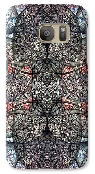 Galaxy Case featuring the drawing I Left All My Chocolate In Pittsburgh Nine Seventeen Two by Jack Dillhunt