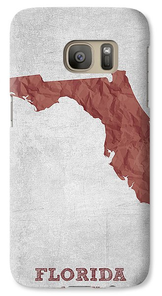 I Love Miami Florida - Red Galaxy S7 Case by Aged Pixel