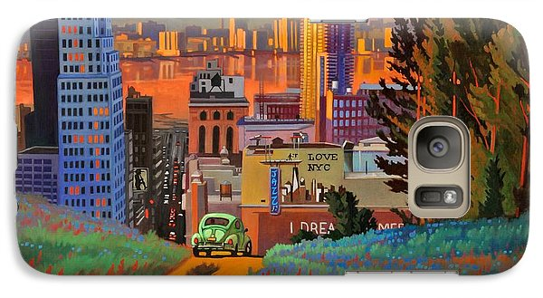 Galaxy Case featuring the painting I Love New York City Jazz by Art James West