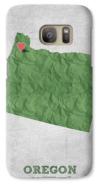 I Love Portland Oregon- Green Galaxy S7 Case by Aged Pixel