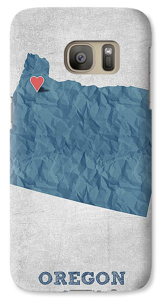 I Love Salem Oregon- Blue Galaxy S7 Case by Aged Pixel
