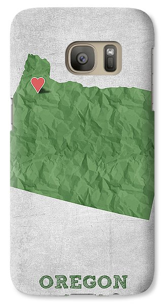 I Love Salem Oregon- Green Galaxy S7 Case by Aged Pixel