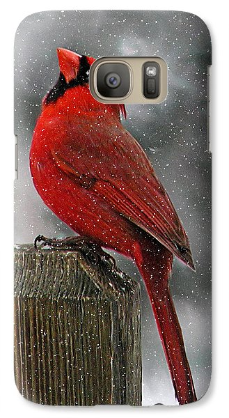 Galaxy Case featuring the photograph I Love Snow..... by Judy  Johnson
