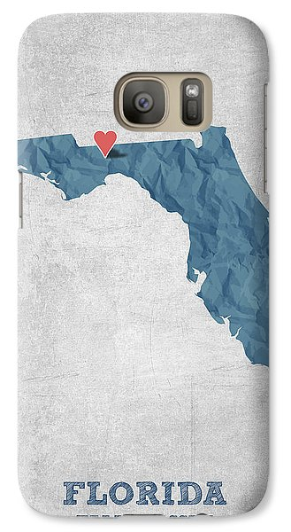I Love Tallahassee Florida - Blue Galaxy S7 Case by Aged Pixel