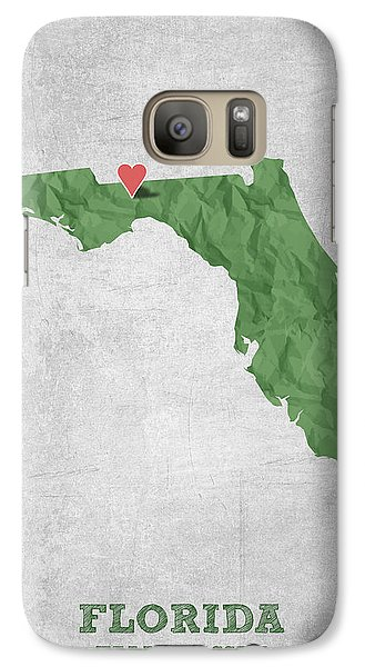 I Love Tallahassee Florida - Green Galaxy S7 Case by Aged Pixel