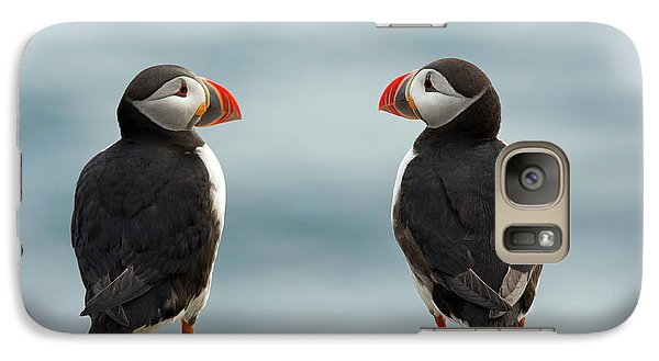 Puffin Galaxy S7 Case - I Love You - I Love You Too by Milan Zygmunt