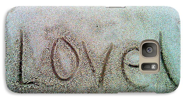 Galaxy Case featuring the photograph I Love U by Janice Westerberg