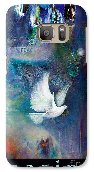 Galaxy Case featuring the painting I M A G I N E by Brooks Garten Hauschild