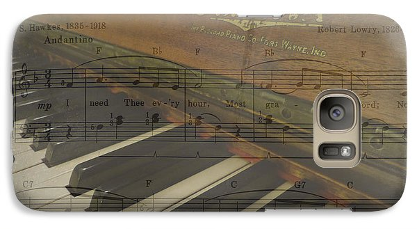 Galaxy Case featuring the photograph I Need Thee Piano by Cindy Wright
