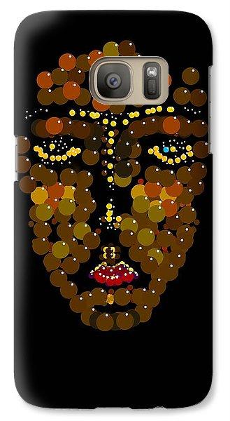 Galaxy Case featuring the digital art I Phone Face by R  Allen Swezey