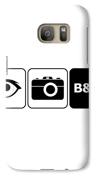 Galaxy Case featuring the digital art I Photograph Black And White by Brian Carson