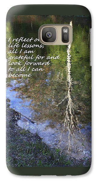 Galaxy Case featuring the photograph I Reflect by Patrice Zinck