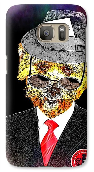 Galaxy Case featuring the digital art I Report The News by Kathy Tarochione