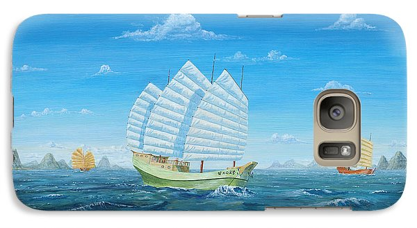 Galaxy Case featuring the painting I Saw Three Ships by Anthony Lyon
