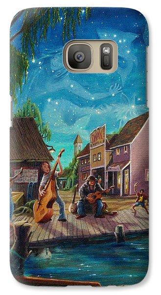 Galaxy Case featuring the painting I See A Good Moon Arising by Matt Konar