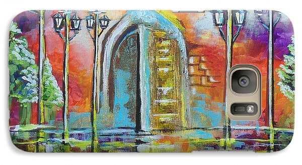 Galaxy Case featuring the painting I Stand At The Door And Knock by Nereida Rodriguez