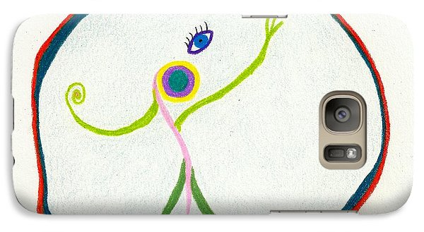 Galaxy Case featuring the drawing I Want Out by Sheila Byers
