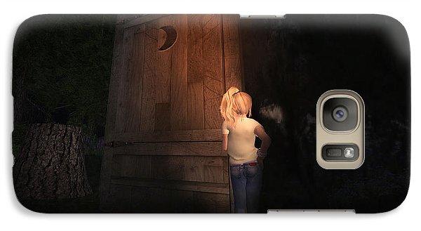 Galaxy Case featuring the digital art I Was Six by Kylie Sabra