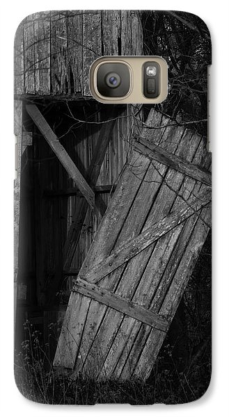 Galaxy Case featuring the photograph I Watched You Disappear - Bw by Rebecca Sherman