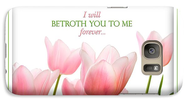 Galaxy Case featuring the photograph I Will Betroth You by Shevon Johnson